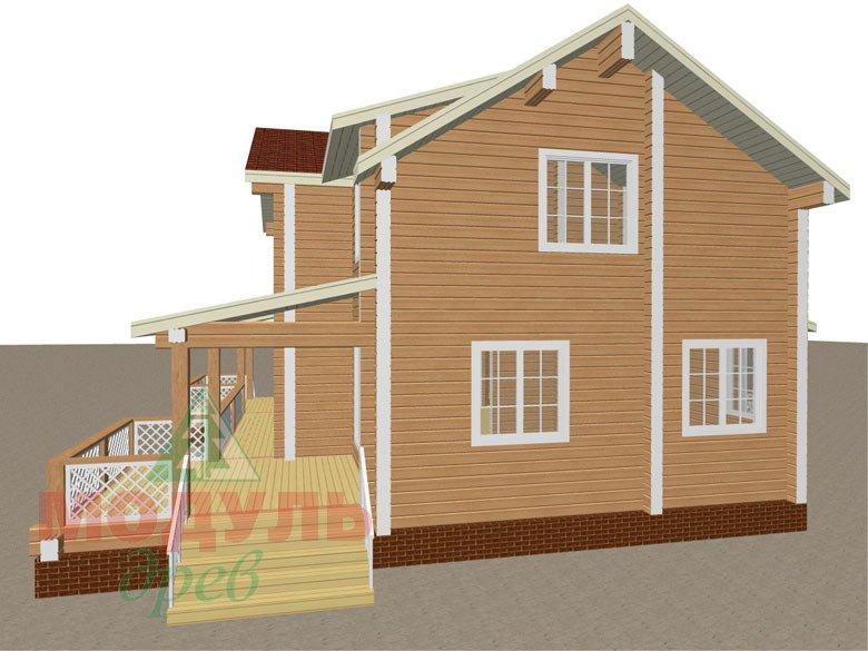 Загородный дом из бруса «Сколково» - макет 3
