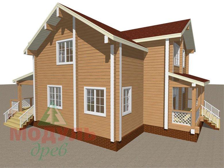 Загородный дом из бруса «Сколково» - макет 4