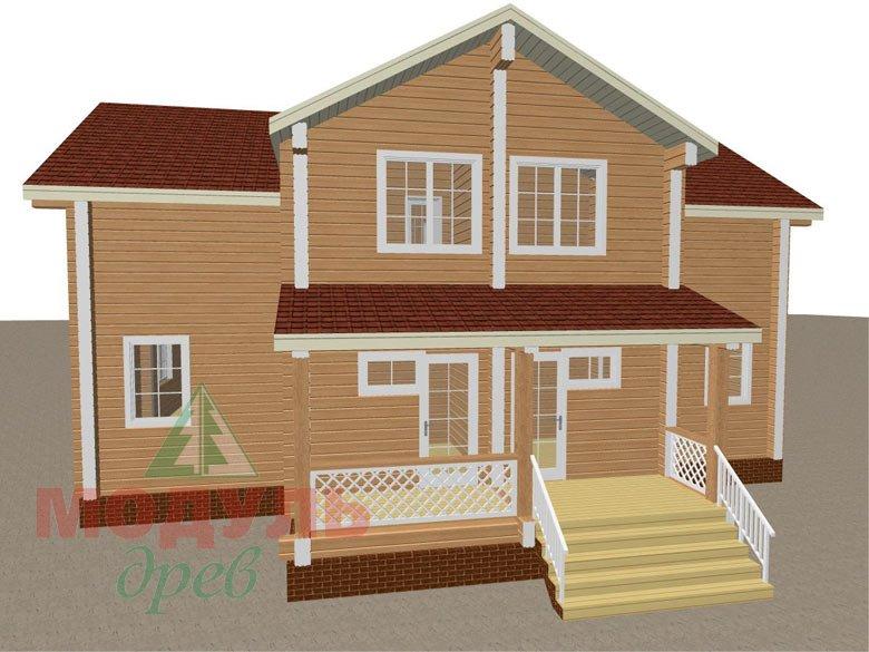 Загородный дом из бруса «Сколково» - макет 5