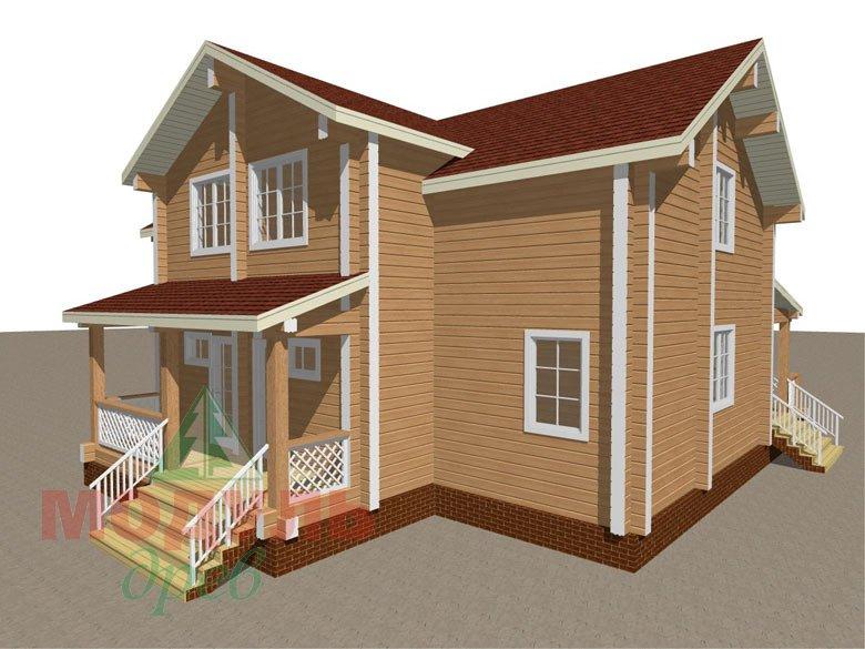 Загородный дом из бруса «Сколково» - макет 6