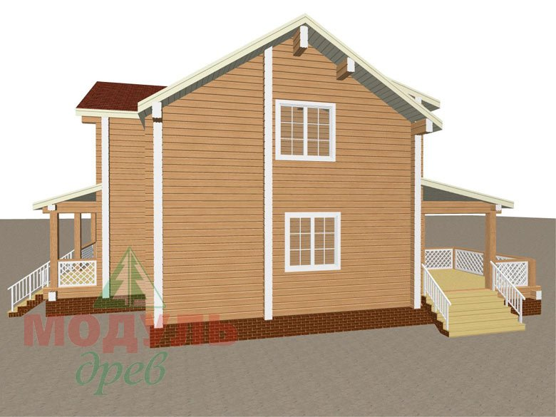 Загородный дом из бруса «Сколково» - макет 7