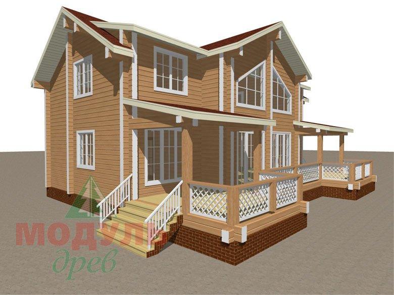 Загородный дом из бруса «Сколково» - макет 8