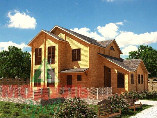 Просторный проект дома из бруса«Сочи»