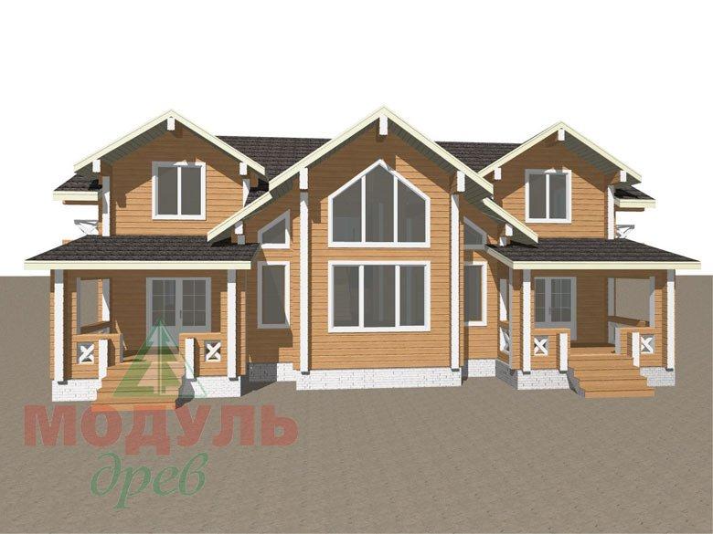 Дом из бруса «Совполье» - макет 1