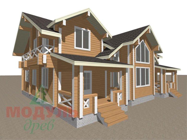 Дом из бруса «Совполье» - макет 2