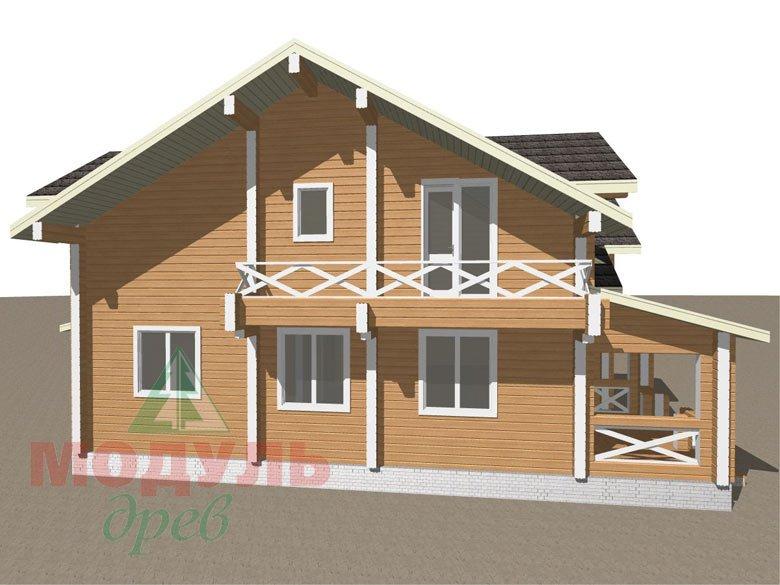 Дом из бруса «Совполье» - макет 3