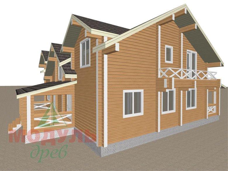 Дом из бруса «Совполье» - макет 4