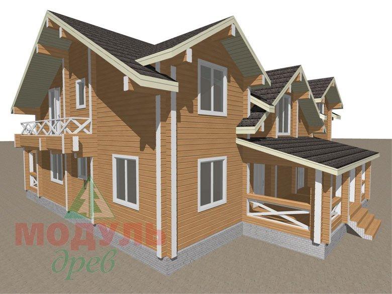 Дом из бруса «Совполье» - макет 6