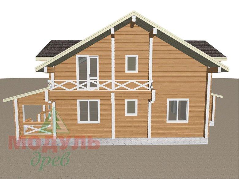 Дом из бруса «Совполье» - макет 7