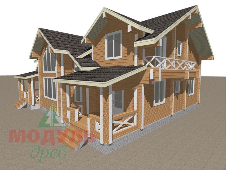Дом из бруса «Совполье» - макет 8