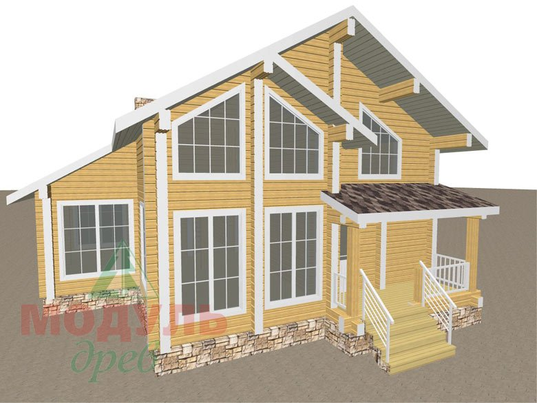 Проект дома из бруса «Стародуб» - макет 1