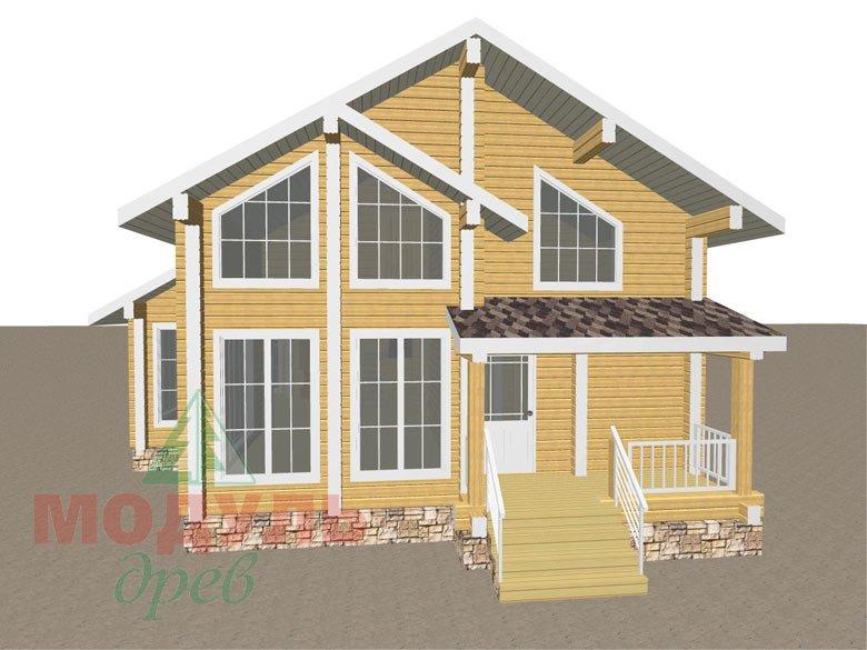 Дом из бруса «Стародуб» - макет 2