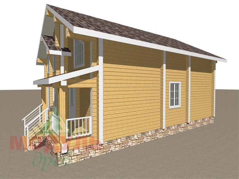 Дом из бруса «Стародуб» - макет 3