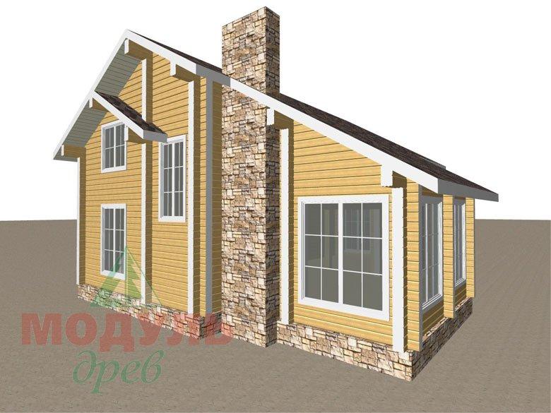 Дом из бруса «Стародуб» - макет 6
