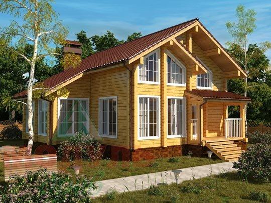 Проект дома из бруса «Стародуб»