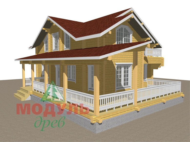Деревянный дом из бруса «Ставрополь» - макет 1