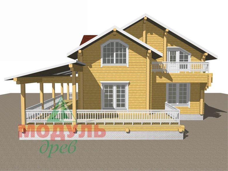 Деревянный дом из бруса «Ставрополь» - макет 2