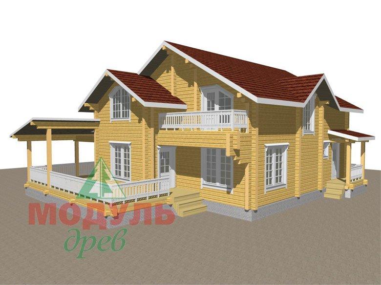 Деревянный дом из бруса «Ставрополь» - макет 3