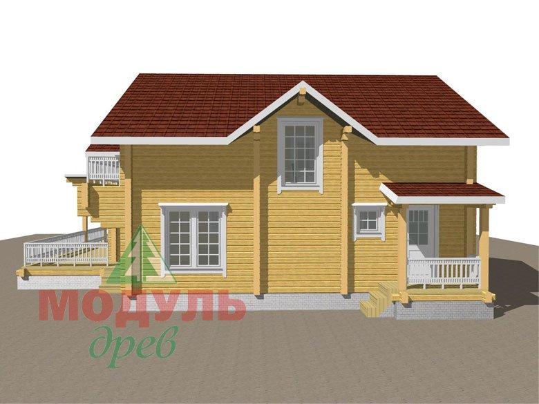Деревянный дом из бруса «Ставрополь» - макет 4