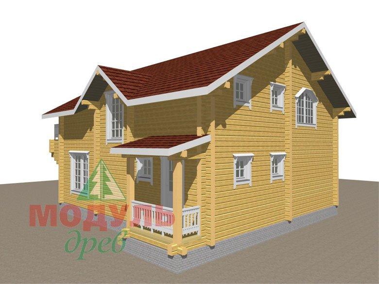 Деревянный дом из бруса «Ставрополь» - макет 5