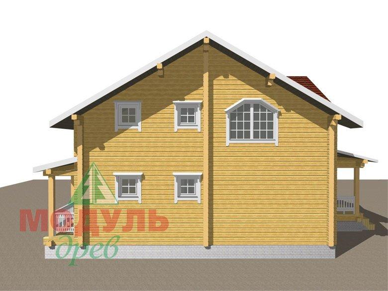Деревянный дом из бруса «Ставрополь» - макет 6