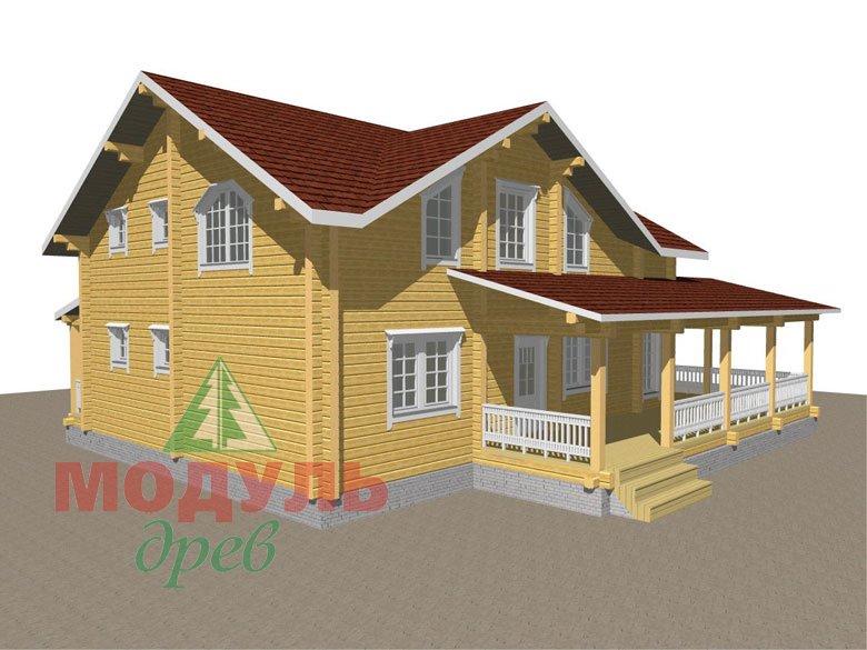 Деревянный дом из бруса «Ставрополь» - макет 7