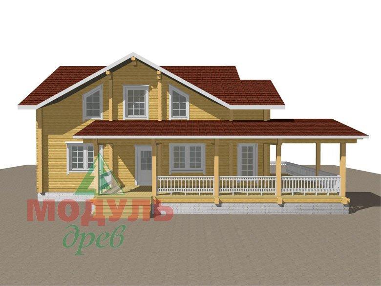 Деревянный дом из бруса «Ставрополь» - макет 8