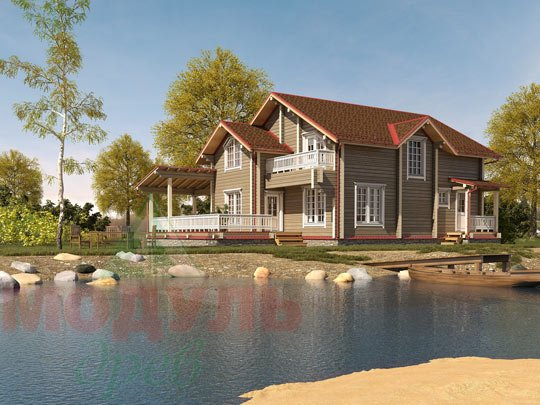 Проект дома из бруса «Ставрополь»