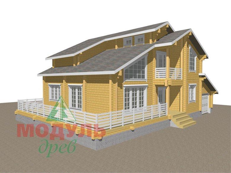 Проект дома из бруса «Судиславль» - макет