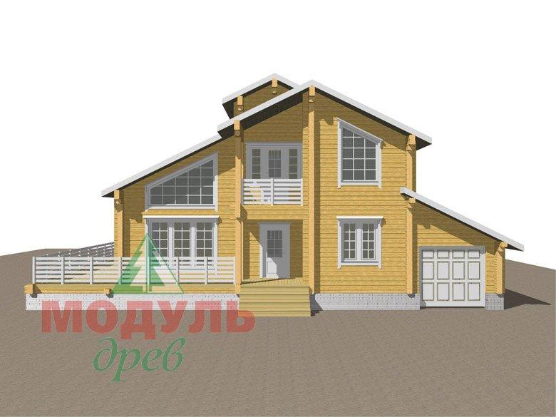Дом из бруса «Судиславль» - макет 2
