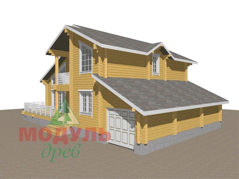 Дом из бруса «Судиславль» - макет 3