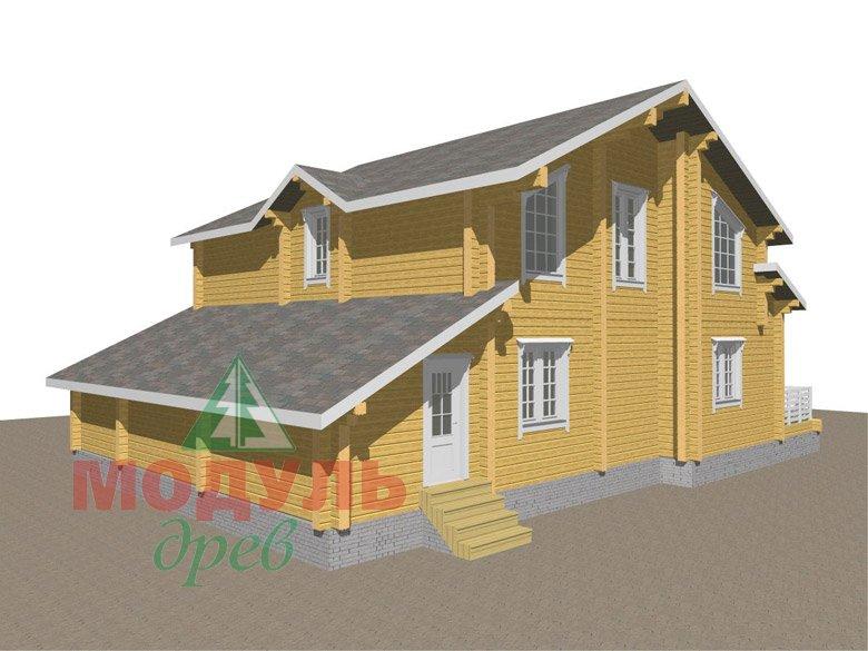 Дом из бруса «Судиславль» - макет 4