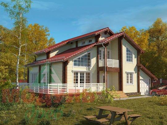 Проект дома из бруса «Судиславль»