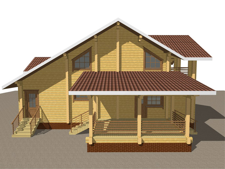 Деревянный дом из бруса «Суздаль» - макет 2