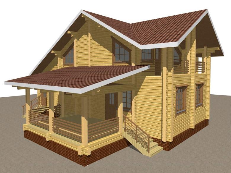 Деревянный дом из бруса «Суздаль» - макет 3