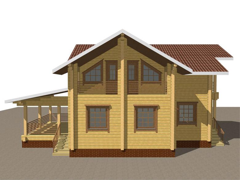 Деревянный дом из бруса «Суздаль» - макет 4