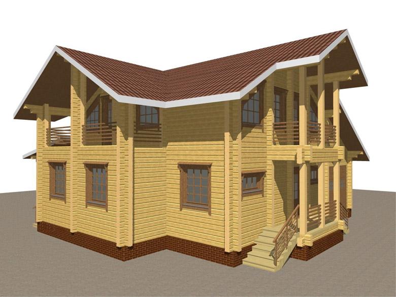 Деревянный дом из бруса «Суздаль» - макет 5