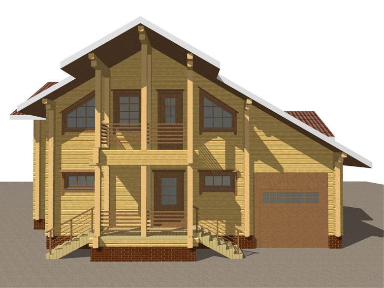 Деревянный дом из бруса «Суздаль» - макет 6