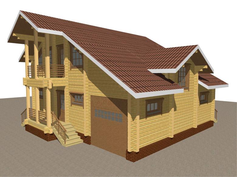 Деревянный дом из бруса «Суздаль» - макет 7