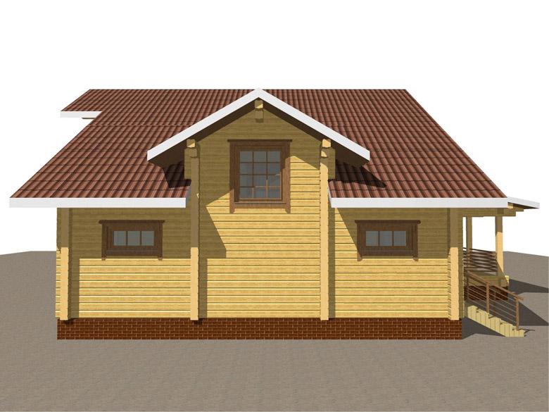 Деревянный дом из бруса «Суздаль» - макет 8