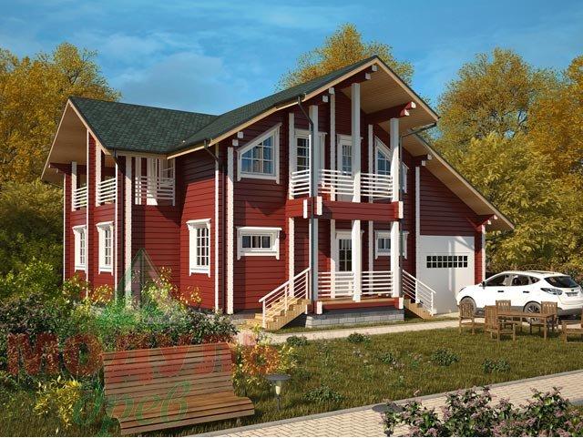 Проект деревянного дома из бруса «Суздаль»