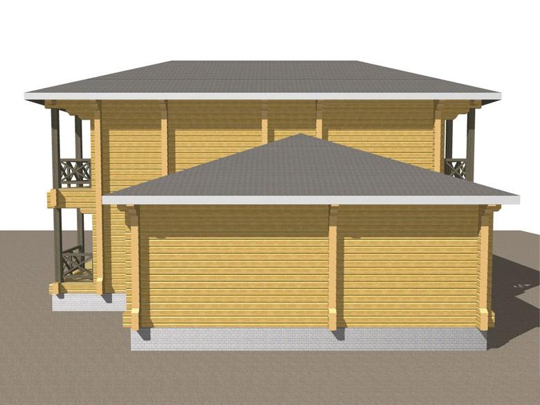 Двухэтажный дома из бруса «Тамань» - макет 4