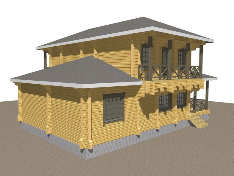 Двухэтажный дома из бруса «Тамань» - макет 5
