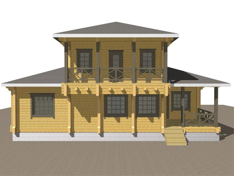 Двухэтажный дома из бруса «Тамань» - макет 6