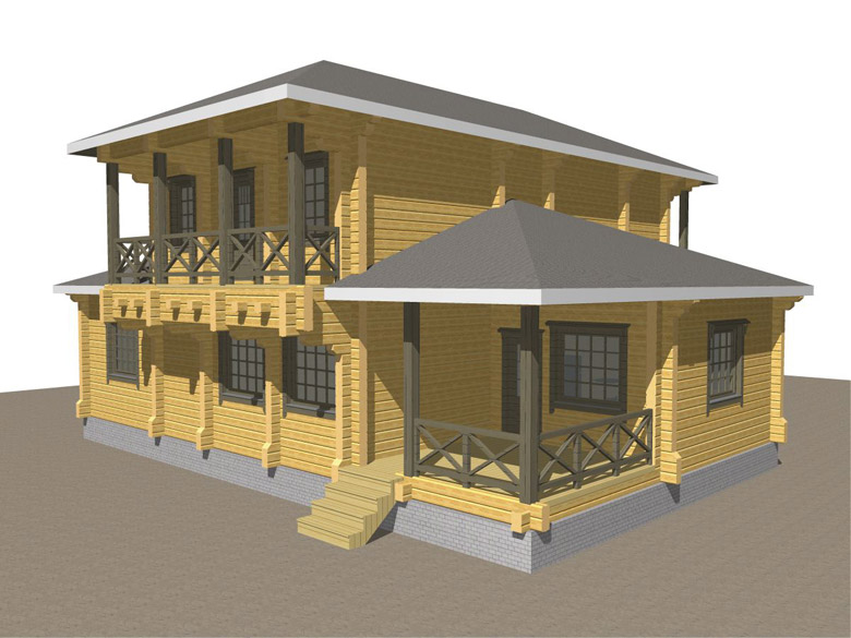 Двухэтажный дома из бруса «Тамань» - макет 7