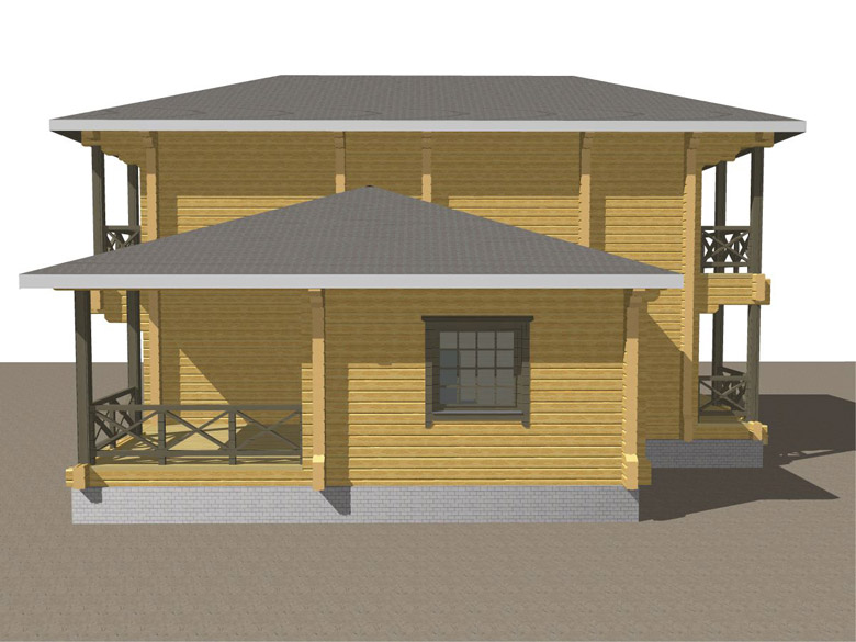 Двухэтажный дома из бруса «Тамань» - макет 8