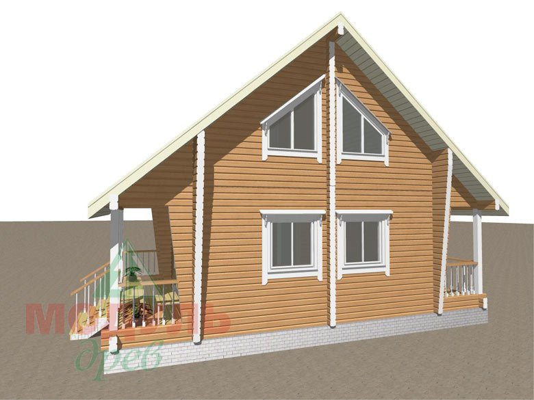 Проект дома из бруса «Тосно»