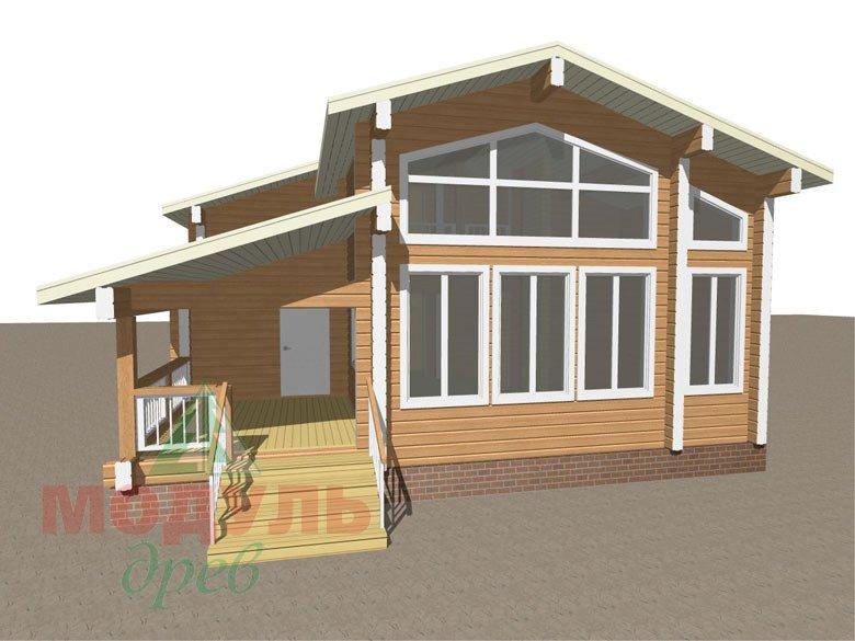 Проект дома из бруса «Тула» - Макет 1