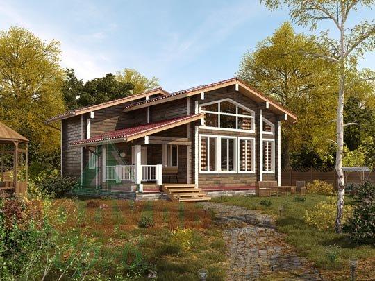 Проект дома из бруса «Тула»