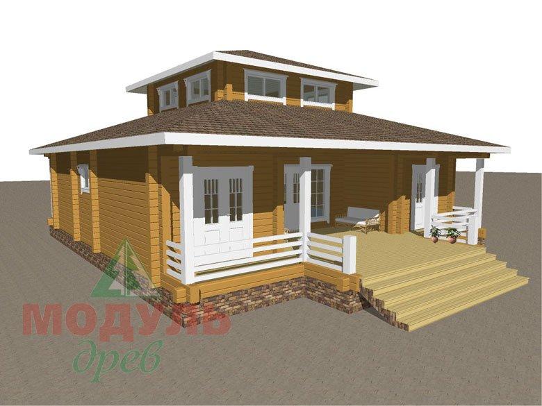 Проект дома из бруса «Улан-Удэ» - макет 1